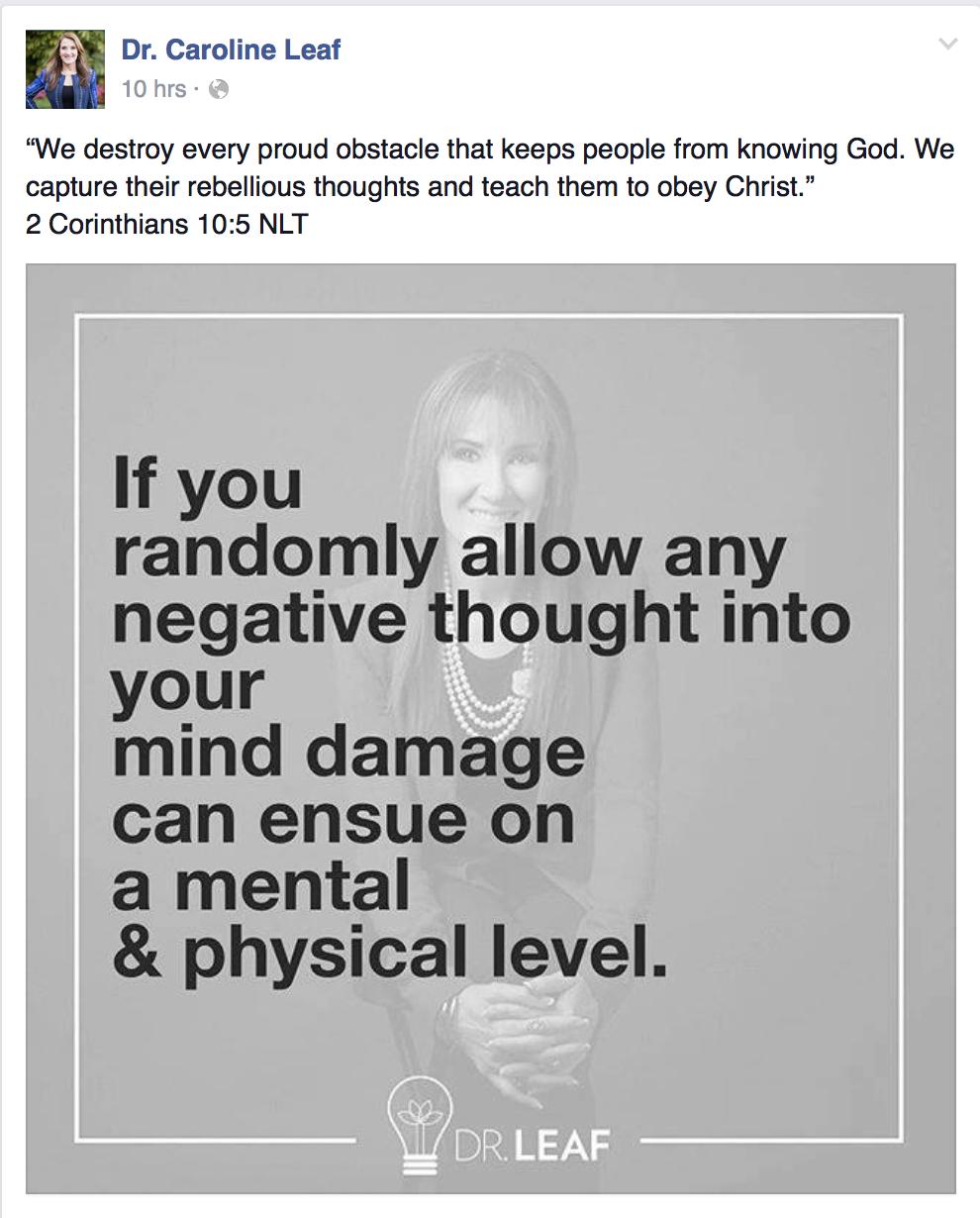 Dr caroline leaf toxic thoughts